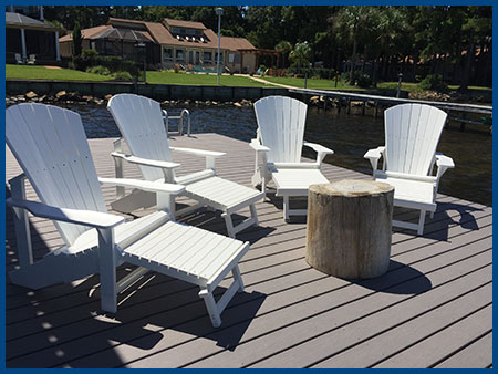 White Addy Lounge Chairs
