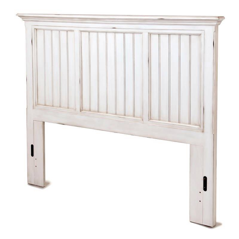 Sea Winds Monaco Bed Headboard Distressed White